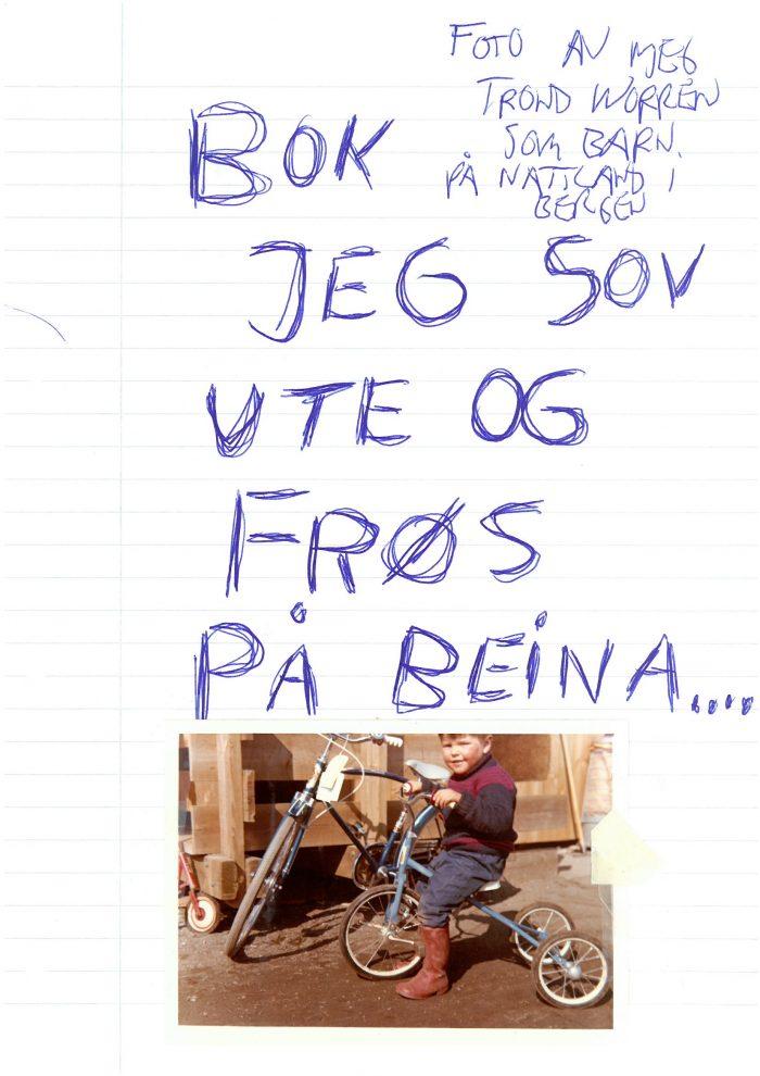 """Trond Worrens bok """"Jeg sov ute og frøs på beina"""""""